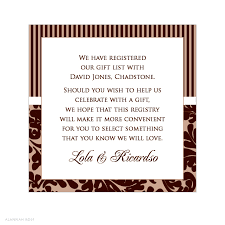marriage gift registry wording for registry on wedding invitation wedding registry