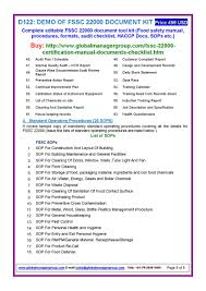fssc 22000 documents with manual procedures checklist pdf flipbook