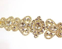 rhinestone bands gold rhinestone trim etsy