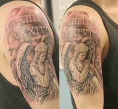 30 praying angel tattoo on half sleeve golfian com