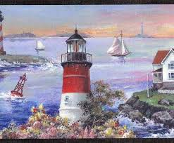 rustic charm lighthouse wallpaper border wallpaper u0026 border