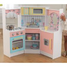 Pretend Kitchen Furniture Kidkraft Uptown Natural Play Kitchen 53298 Hayneedle