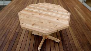 how to make a wooden patio table youtube