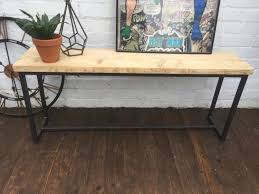 revolution industrial bench reclaimed wood with steel frames