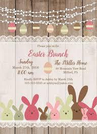 easter brunch invitations rustic bunny easter brunch invitation magnolia