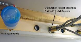 remove a kitchen faucet how to replace a kitchen faucet handymanhowto com