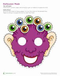 monster mask worksheet education com