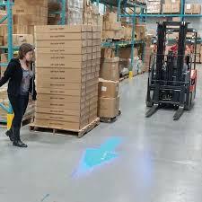 blue warning lights on forklifts forklift blue arrow safety light