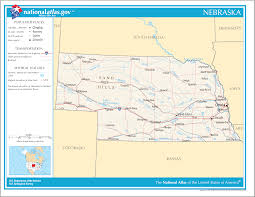Map Of Usa With State Capitals by Nebraska State Maps Usa Maps Of Nebraska Ne Vector Color Map Of