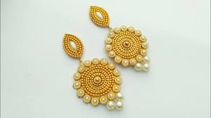 fancy earing how to make designer fancy earrings jewellery diy