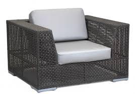 patio lounge chair in rehau fiber java brown finish with sunbrella