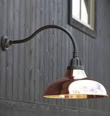 Copper Outdoor Lighting Lighting Design Ideas Silver Steel Gooseneck Out Of Doors Slight
