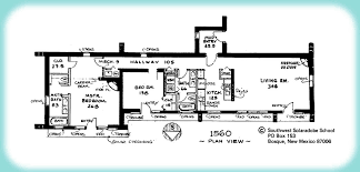 pueblo style house plans solar adobe house plan 1560