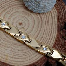 magnetic bracelet gold plated images Wollet jewelry health healing austrian crystal 316l stainless jpg