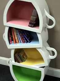 Kid Bookshelf Creative Kid Shelves With Stacked Teacup