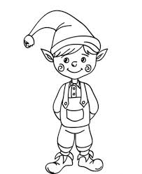 elf coloring pages free santa christmas elf coloring pages elf