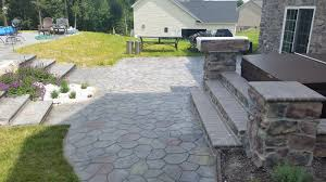 Retaining Wall Patio Stamped Concrete Pool Patio With Retaining Wall Tri County Unlimited