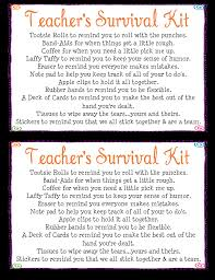 Humorous Survival Kits For Teachers Teacher U0027s Survival Kit