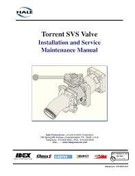 hale torrent svs stainless steel valves user manual 100 pages
