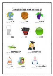 english teaching worksheets initial blends