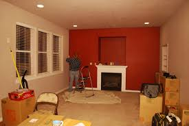 living room red paint w taupe facing walls interior ideas colors