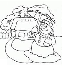 umbrella and snowman coloring pages to print winter coloring