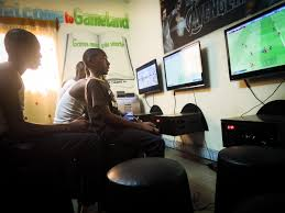 video gaming rooms let cameroonian teenagers exercise imagination