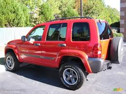red jeep liberty 2004 flame red jeep liberty sport 4x4 columbia edition 39924858