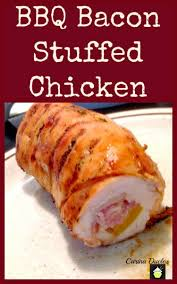 bbq stuffed chicken breast lovefoodies
