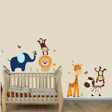 Safari Nursery Wall Decals Navy And Orange Jungle Animal Wall Stickers With Stickers For