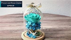 Forever Rose In Glass Dome Preserved Rose In Glass Dome Handcrafted Floral Creation Youtube