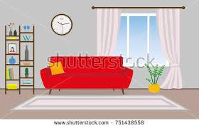 home interior vector living room interior vector background sofa stock vector 751438558