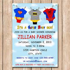 cool unique ideas for superhero baby shower invitations templates
