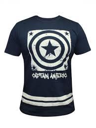 buy shirts marvel captain america navy blue sleeve