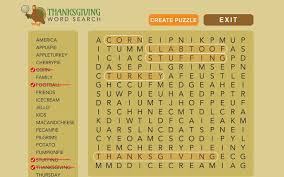 thanksgiving word search chrome web store