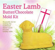 polish art center easter lamb butter chocolate mold kit