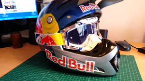 custom motocross helmet painting red bull helmet finish glasses red bulll youtube