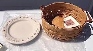 celebrate plate longaberger darning basket w woven traditions celebrate plate w