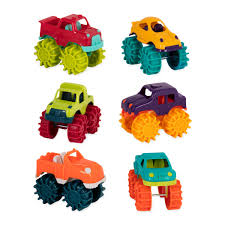 monster jam truck theme songs amazon com battat mini monster trucks toys u0026 games