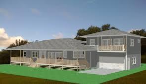 hawaiian plantation style house house plans 77896