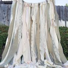 Shabby Chic Curtains Pinterest by Shabby Chic Backdrop Rustic Wedding Curtain Burlap And Lace