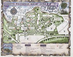 Walt Disney World Transportation Map by Polynesian Resort Map Kennythepirate Com An Unofficial Disney