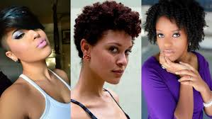 short natural tapered low hairstyles with a part short haircuts for black women with natural hair hairstyle for