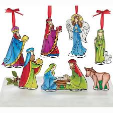 tin nativity ornament set