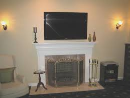 fireplace simple mounting a tv to a brick fireplace decorating