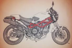 ducati red trellis classic cars and motorcycles drawings gifts