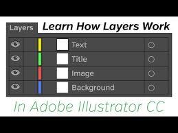 tutorial illustrator layers adobe illustrator cc tutorial layers youtube