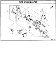 2007 honda vtx1300 vtx1300c rear brake caliper parts best oem