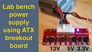 Pc Power Supply Bench Diy Easy Atx Psu Conversion To Lab Bench Power Supply Using Atx