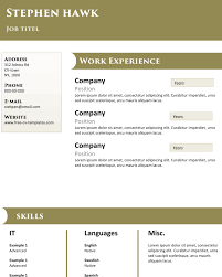 top notch high quality resume template for free